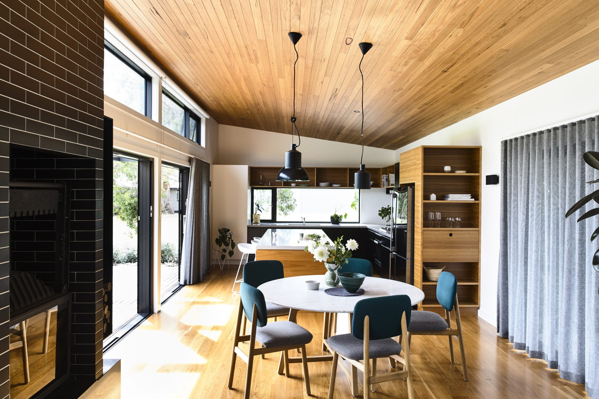 archiblox flinders house living room timber example