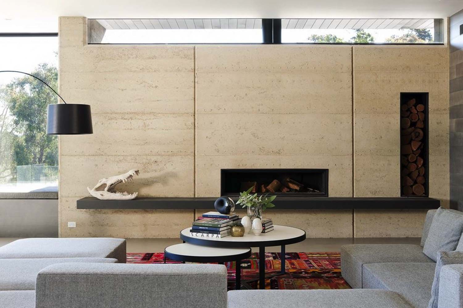 rammed earth wall example image