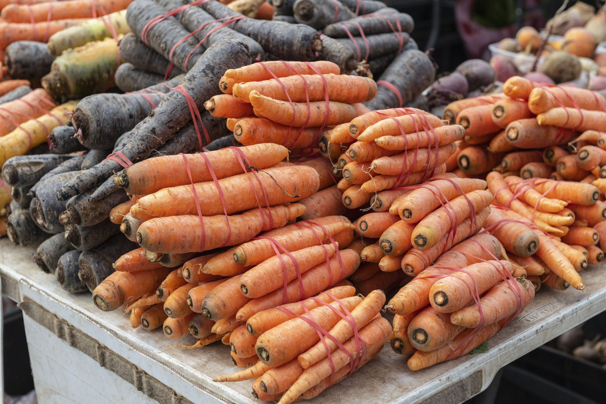 carrots at farmers market