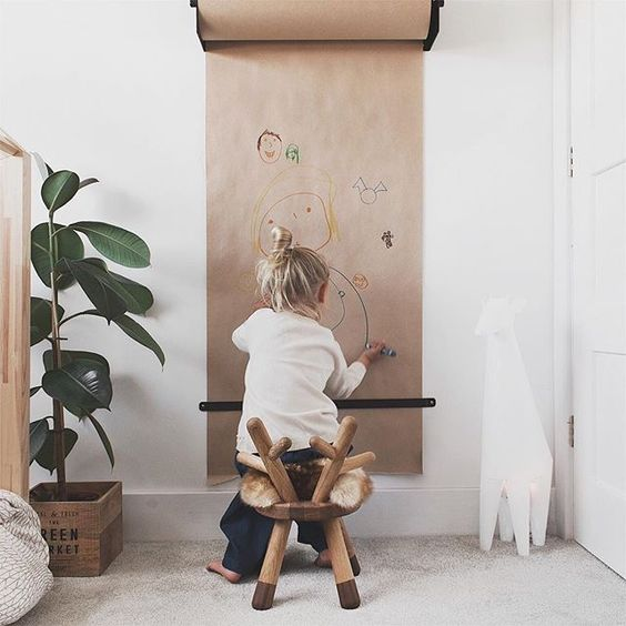 playroom idea example - girl drawing