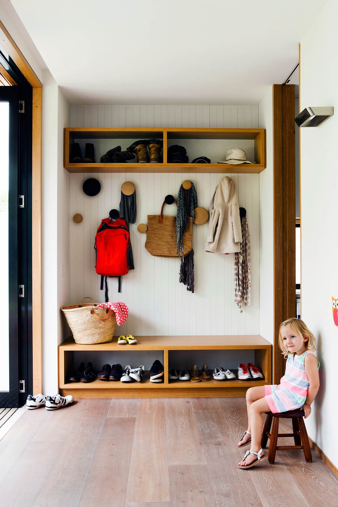 example of kid friendly mudroom image