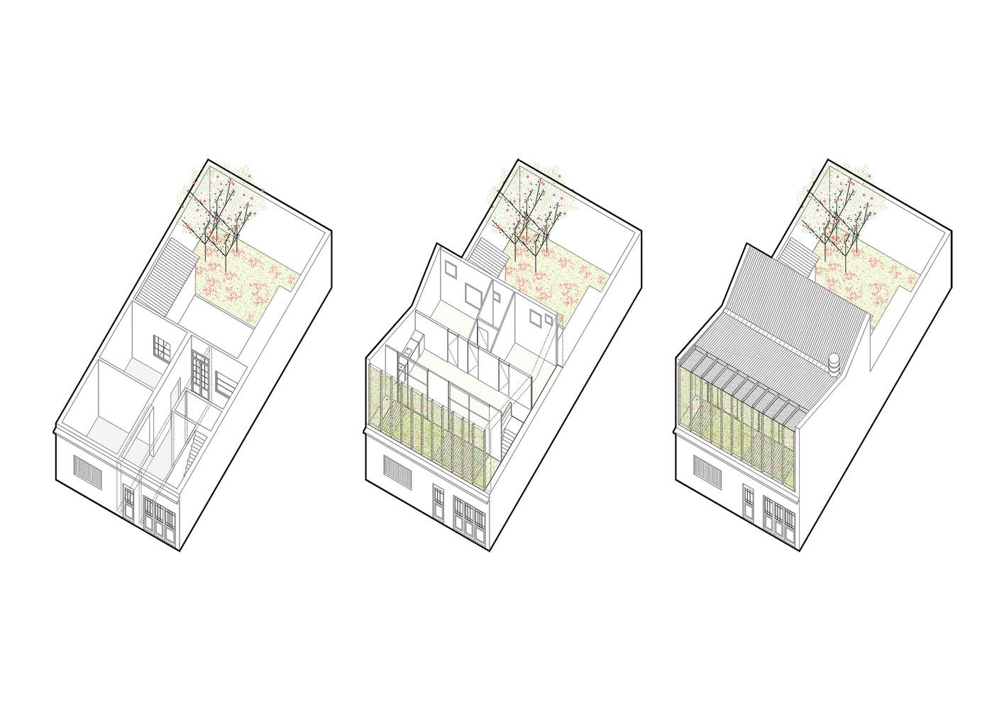 silvina omar house isometric views