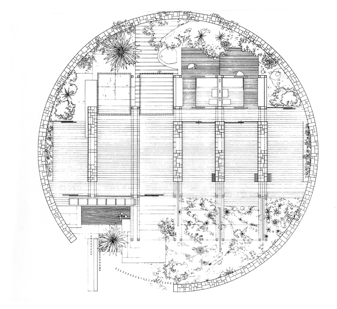 floor plan of the Bioclimatic house