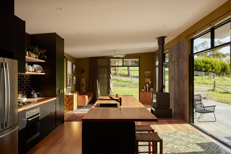archiblox fish creek house interior living area