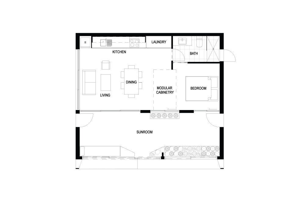 archiblox carbon positive house floor plan