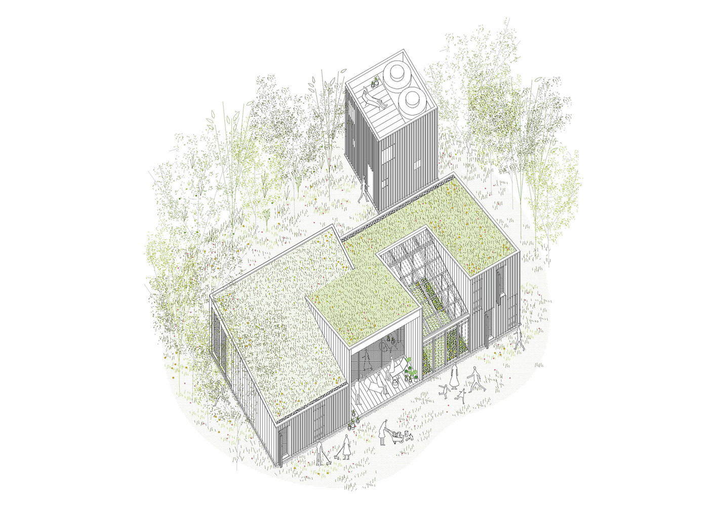Drawing of AA House
