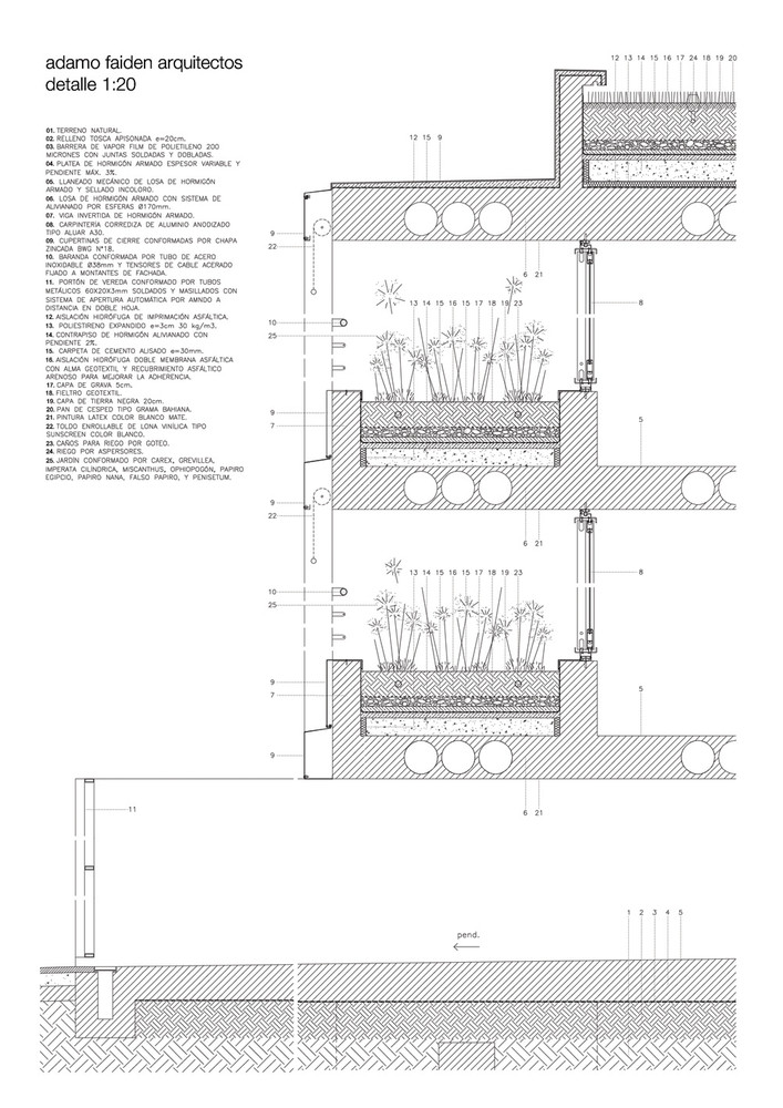 once building section plan