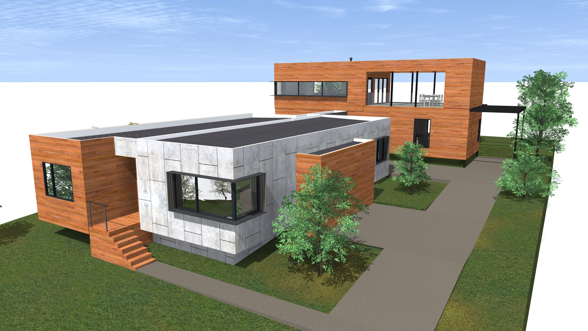 archiblox anglesea II house render side view